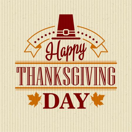 thanksgiving: Typographic Thanksgiving Design. Vector illustration EPS 10
