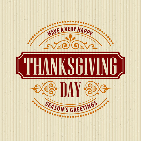 give thanks: Typographic Thanksgiving Design. Vector illustration EPS 10