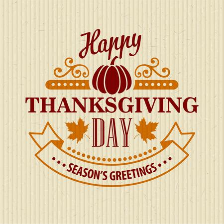 Typographic Thanksgiving Design. Vector illustration EPS 10