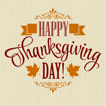 thanks: Typographic Thanksgiving Design. Vector illustration EPS 10