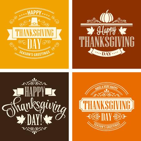 fond de texte: Typographique Thanksgiving scénographie. Vector illustration EPS 10