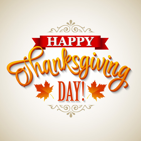 Typographic Thanksgiving Design. Vector illustration EPS 10