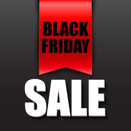 Black friday sale design template. Vector illustration EPS 10 Illustration
