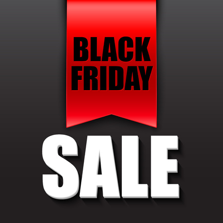 black and red: Black friday sale design template. Vector illustration EPS 10 Illustration