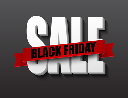 red black: Black friday sale design template. Vector illustration EPS 10 Illustration