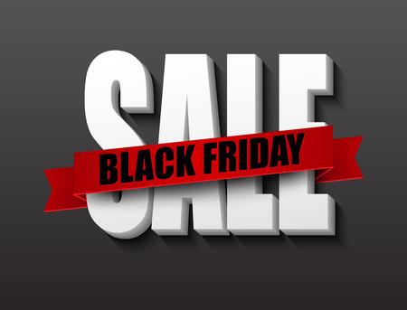 Black friday sale design template. Vector illustration EPS 10 Vectores