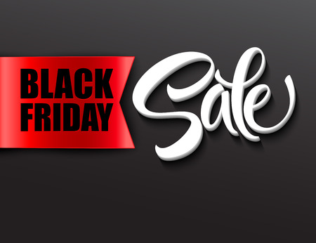 Black friday sale design template. Vector illustration EPS 10 Stock Illustratie