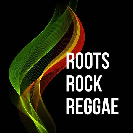 Reggae color wave poster design. Vector illustration EPS 10 Illustration