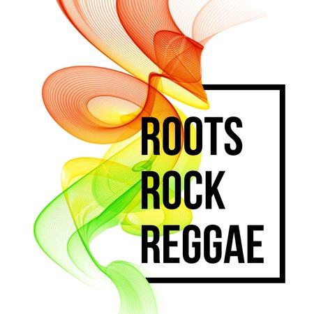 reggae: couleur de Reggae de conception de l'affiche d'onde. Vector illustration EPS 10