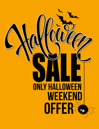 Halloween sale. Happy holiday. Vector illustration EPS 10