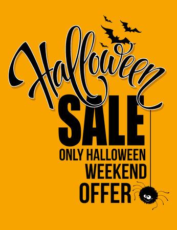 fondo para tarjetas: Venta de Halloween. d�a de fiesta feliz. Ilustraci�n del vector EPS 10