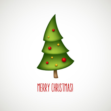 merry mood: Funny christmas trees. Vector illustration EPS 10