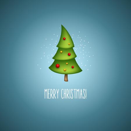 Funny christmas trees. Vector illustration EPS 10