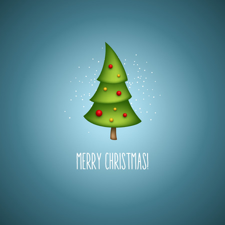Funny christmas trees. Vector illustration EPS 10