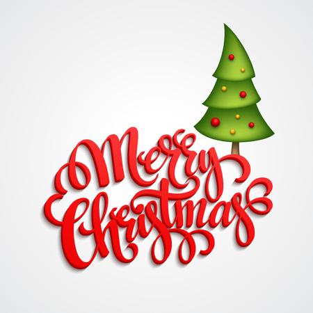 eps 10: Christmas Greeting Card. Merry Christmas lettering, vector illustration EPS 10