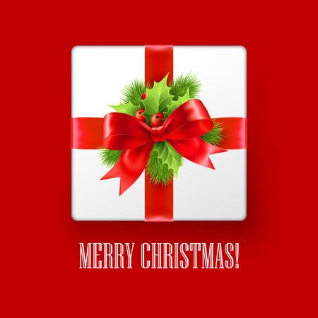 christmas gift box: Gift box with Christmas decoration. Vector illustration EPS 10