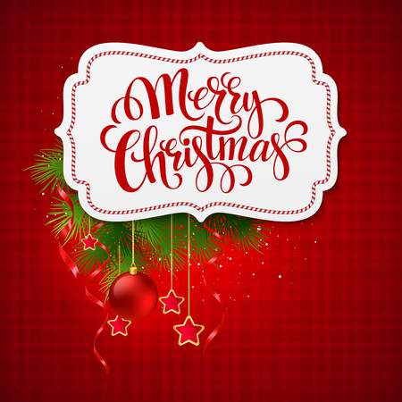 merry: Merry Christmas card creative label. Vector Illustration EPS 10