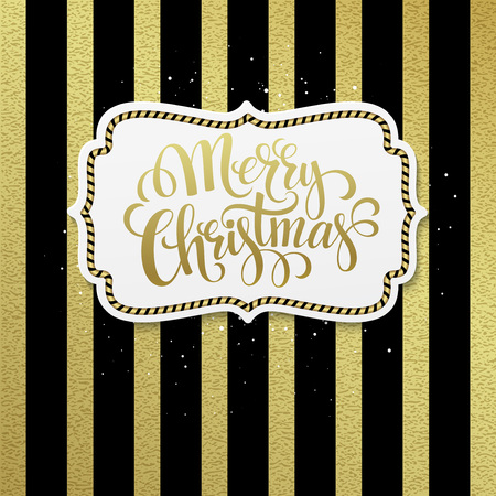 bayram: Merry Christmas. Hand lettering calligraphy vector illustration EPS 10