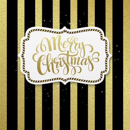 bayram: Merry Christmas. Hand lettering calligraphy vector illustration EPS 10