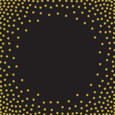 polka dot wallpaper: Black and gold  pattern. Vector illustration EPS 10 Illustration