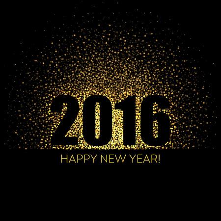 fiestas electronicas: 2016 Feliz A�o Nuevo brillante de fondo. Ilustraci�n del vector EPS 10