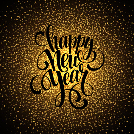 happy  new: 2016 Happy New Year glowing background. Vector illustration EPS 10