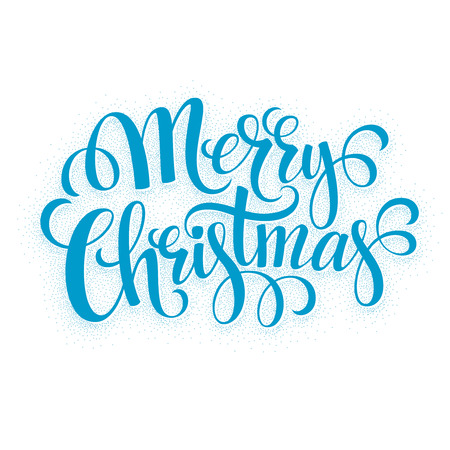 verry: Verry Christmas greeting lettering. Vector illustration EPS 10