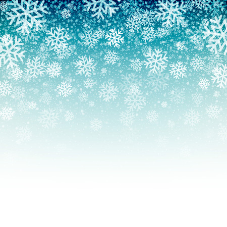 snowflakes: Blue background with snowflakes. Vector illustration EPS 10