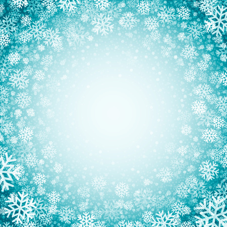 schneeflocke: Blauer Hintergrund mit Schneeflocken. Vektor-Illustration EPS 10 Illustration