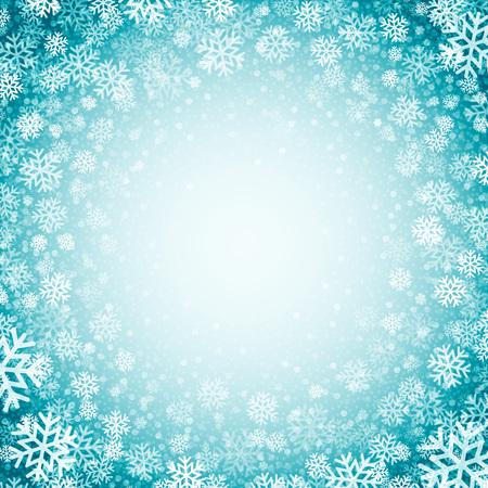 copo de nieve: Fondo azul con los copos de nieve. Ilustración del vector EPS 10 Vectores