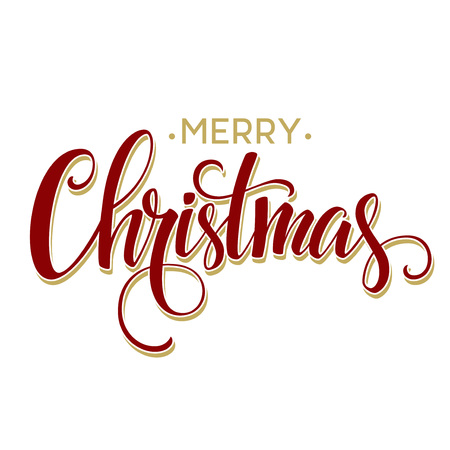 christmas banner: Merry Christmas Lettering Design. Vector illustration