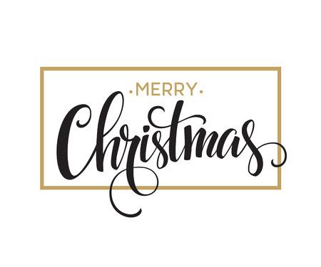 muerdago navideÃ?  Ã? Ã?±o: Feliz Navidad diseño de letras. Ilustración vectorial