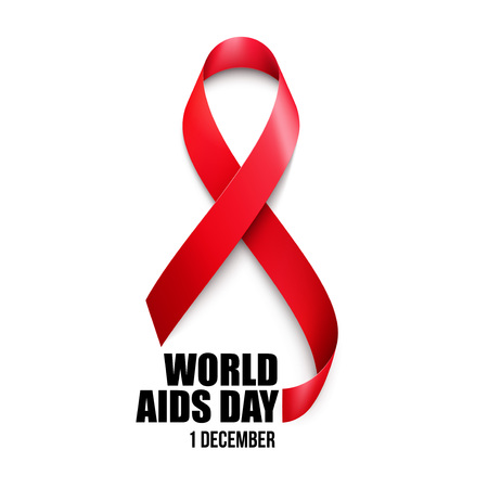 salud sexual: Conciencia de las ayudas. Concepto del Día Mundial del Sida. Ilustración vectorial EPS10