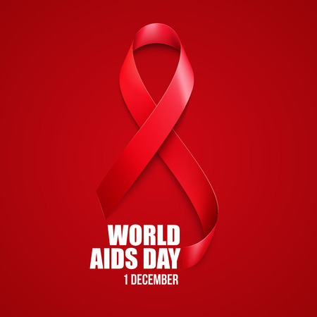 life and death: Aids Awareness. World Aids Day concept. Vector illustration EPS10 Illustration