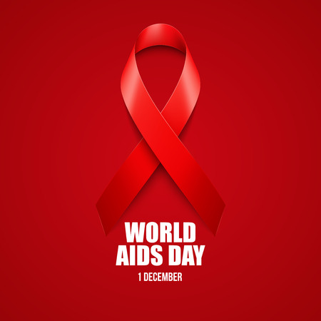 aids awareness ribbon: Aids Awareness. World Aids Day concept. Vector illustration EPS10 Illustration