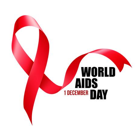 Conciencia de las ayudas. Concepto del Día Mundial del Sida. Ilustración vectorial EPS10