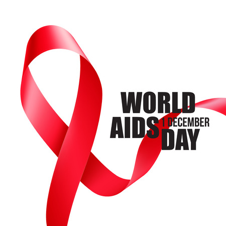 aids symbol: Aids Awareness. World Aids Day concept. Vector illustration EPS10 Illustration