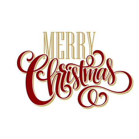 christmas christmas christmas: Merry Christmas Lettering Design. Vector illustration EPS10