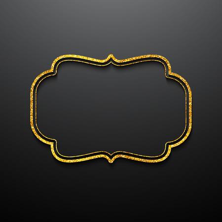 Marcos de oro del estilo de la vendimia. Foto de archivo - 48108277