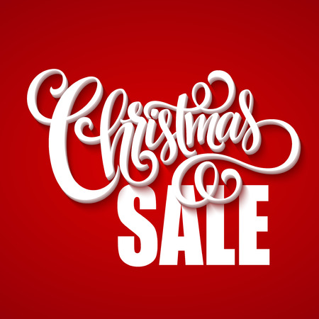 sale sign: Christmas sale design template. Illustration