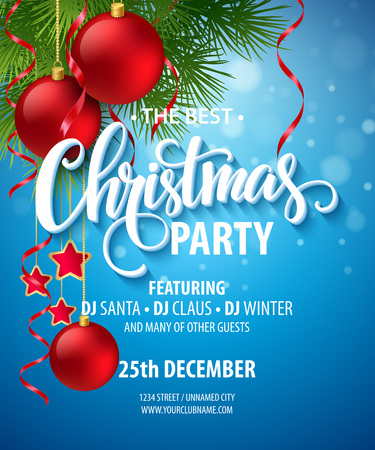 Vector Christmas Party design template.