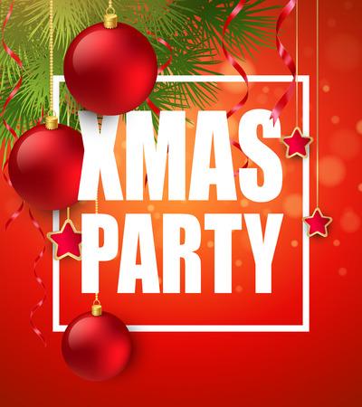 Vector Christmas Party design template.