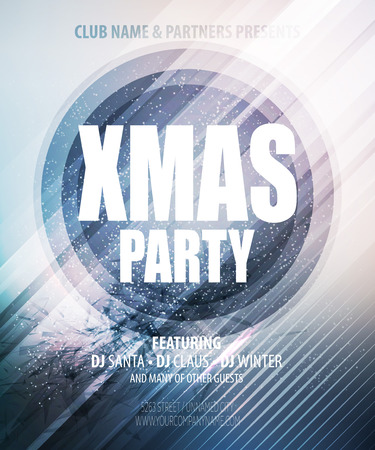 background banner: Christmas night party poster or flyer.