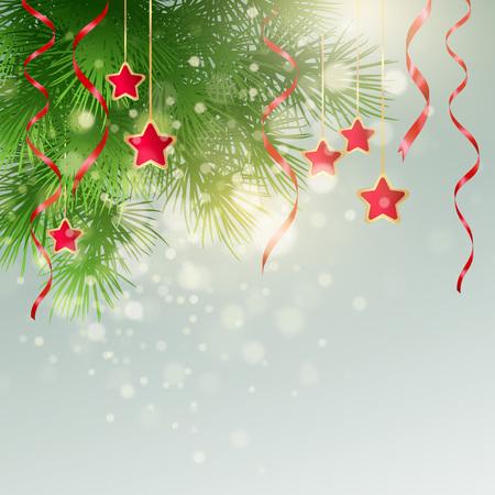 xmas decoration: Xmas background with Christmas decoration. Vector illustration EPS10
