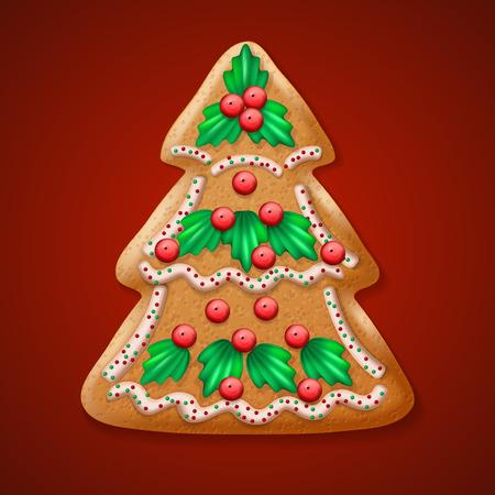 dainty: Ornate realistic vector traditional Christmas tree. Vector illustration EPS10 Illustration