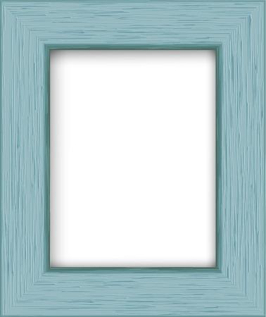 Marco de fotos de madera rectangular. Foto de archivo - 49373120