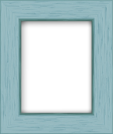Wooden rectangular photo frame. Illustration