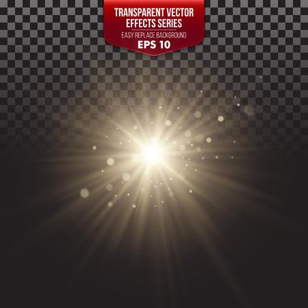 light: Serie Efectos transparente. Fácil sustitución del fondo Vectores