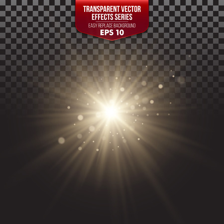 bright light: Transparent Effects Series. Easy replacement of the background