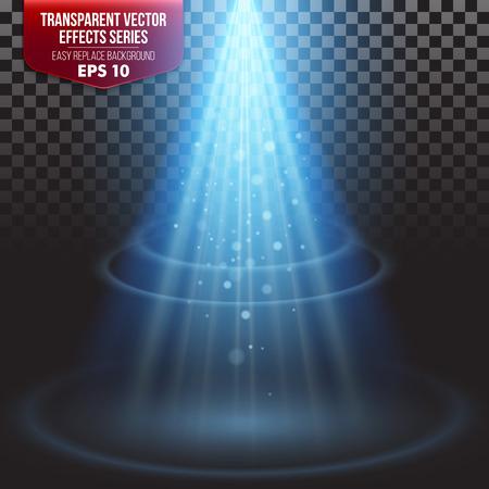 Transparante Series Effects. Eenvoudige vervanging van de achtergrond Vector Illustratie